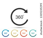 angle 360 degrees icon isolated ... | Shutterstock . vector #1335235295