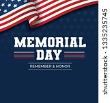 happy memorial day background.... | Shutterstock .eps vector #1335235745