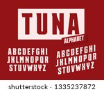 tuna letters set. stretched and ... | Shutterstock .eps vector #1335237872