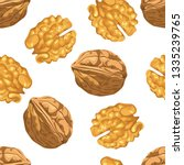 Walnut Seamless Pattern On...