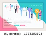 business processes theme... | Shutterstock .eps vector #1335253925