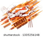 concept of sportsman playing... | Shutterstock .eps vector #1335256148
