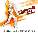 concept of sportsman playing... | Shutterstock .eps vector #1335256175