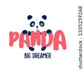 hand drawing sweet panda ...   Shutterstock .eps vector #1335259268