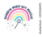 hand drawing  rainbow...   Shutterstock .eps vector #1335260495