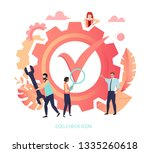 cog check icon. confirmation ... | Shutterstock .eps vector #1335260618