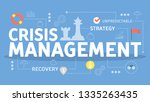 crisis management concept. idea ...   Shutterstock .eps vector #1335263435