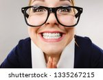 crazy bizarre business woman or ... | Shutterstock . vector #1335267215