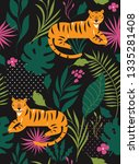 jungle  tiger   seamless... | Shutterstock .eps vector #1335281408