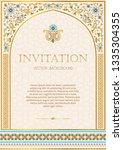 iinvitation template for design ... | Shutterstock .eps vector #1335304355