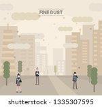 fine dust covered city...   Shutterstock .eps vector #1335307595
