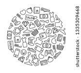 round design element with line... | Shutterstock .eps vector #1335309668