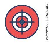 target   focus   goal   | Shutterstock .eps vector #1335316082