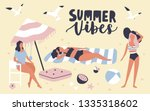 seasonal card template with... | Shutterstock .eps vector #1335318602