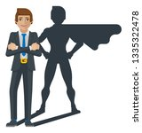 a super business man hero... | Shutterstock .eps vector #1335322478