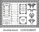 vintage decorative pattern... | Shutterstock .eps vector #1335328835