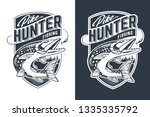 pike hunter vector emblem... | Shutterstock .eps vector #1335335792