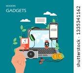modern gadgets vector flat... | Shutterstock .eps vector #1335341162