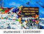 the sign of the larke pass 5106 ... | Shutterstock . vector #1335350885