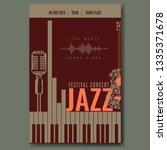 jazz festival concert poster... | Shutterstock .eps vector #1335371678