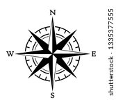 compass wind rose in vintage... | Shutterstock .eps vector #1335377555