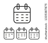 calendar day month year icon... | Shutterstock .eps vector #1335387875