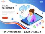online isometric customer...   Shutterstock .eps vector #1335393635