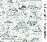 vector abstract seamless... | Shutterstock .eps vector #1335394172