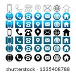 7 style contact information... | Shutterstock .eps vector #1335408788