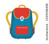school bag icon. flat... | Shutterstock .eps vector #1335438308