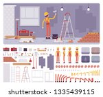 repair of apartments workplace... | Shutterstock .eps vector #1335439115