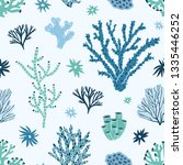 seamless pattern with blue and... | Shutterstock .eps vector #1335446252