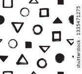 black and white brush hand... | Shutterstock .eps vector #1335471275