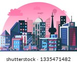 layered  modern city street... | Shutterstock .eps vector #1335471482