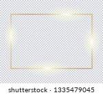 gold horizontal rectangle frame ... | Shutterstock .eps vector #1335479045