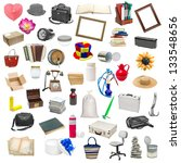 simple collage of isolated objects on white background