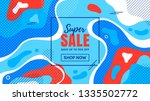 sale banner with abstract...   Shutterstock .eps vector #1335502772