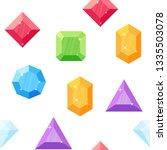 diamonds in various shapes.... | Shutterstock .eps vector #1335503078