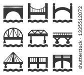 bridge icons set.   Shutterstock . vector #1335512072