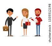 journalists of news channels...   Shutterstock . vector #1335512198
