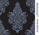 vector damask seamless pattern... | Shutterstock .eps vector #1335533348