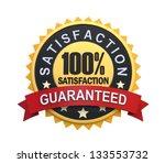 satisfaction guaranteed label... | Shutterstock . vector #133553732