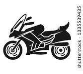 sports bike left view icon.... | Shutterstock .eps vector #1335539435