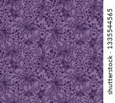 hand drawn flower seamless... | Shutterstock .eps vector #1335544565