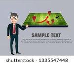 businessman drawing tactic...   Shutterstock .eps vector #1335547448