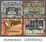 car service  painting and... | Shutterstock .eps vector #1335553412
