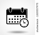 calendar and clock icon. date... | Shutterstock .eps vector #1335557975