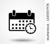 calendar and clock icon. date... | Shutterstock .eps vector #1335557978