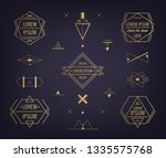 vector set of abstract... | Shutterstock .eps vector #1335575768