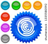 concentric random circles icon. ... | Shutterstock .eps vector #1335580592